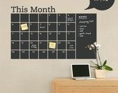 Chalkboard Wall Calendar with Memo - Vinyl Wall Decal   Love this!!!  Can get get it @Katie_Mulligan