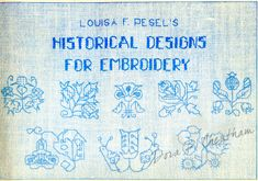 Gallery.ru / Фото #1 - Louisa F. Pesel's Historical Designs for Embroidery…