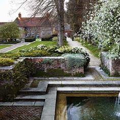 restoration of folly farm gardens, sulhamstead (landscape design: gertrude jekyll and sir edward lutyens) Vita Sackville West, Gaudi, Formal Gardens, Outdoor Gardens, Landscape Design, Garden Design, House Design, Folly Farm, Dan Pearson