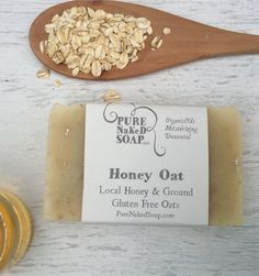 Organic Soap  Honey Oat Bar Soap  All Natural by PureNakedSoap