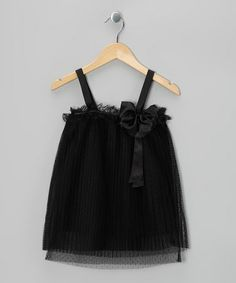 Take a look at this Black Bow Shift Dress - Girls by Sweetheart Jane on #zulily today!