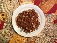 Molasses granola with coconuts and walnuts.