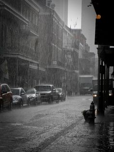 New Orleans in the rain