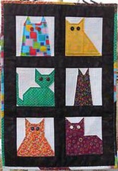 More Caterday Quilts and Caterday Cats...and One Dog - 24 Blocks