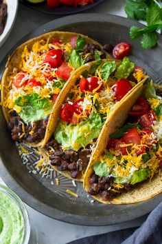 Black Bean Tacos {with Avocado Cilantro Lime Crema} - Cooking Classy Mexican Food Recipes, Whole Food Recipes, Vegetarian Recipes, Dinner Recipes, Cooking Recipes, Healthy Recipes, Vegetarian Tacos, Vegan Tacos, Cooking Tips