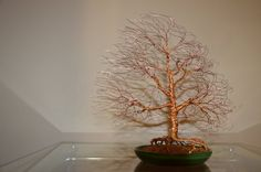 Wind swept wire tree sculpture by ~minskis on deviantART    Cool wire sculptures!