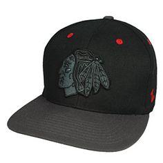 Get this Chicago Blackhawks Blackout Snapback Adjustable Cap at ChicagoTeamStore.com