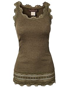 Viktoria Top - Rosemunde - Olive - Tops - Clothing - NELLY.COM UK
