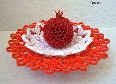 3d Quilling, pomegranate