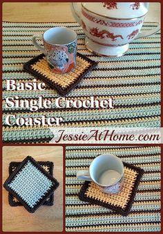 Basic Single Crochet Coaster Pattern