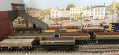 New shunting variety at Inglenook South, from the back, Tope, Limpet, Dogfish, Bass, Rudd, Clam, Grampus and Mermaid. 