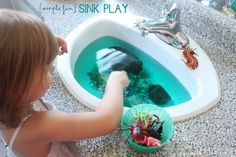 {Simple Fun} 4 Fun Ideas for Sink Play | Mama.Papa.Bubba.