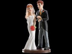 Figurine de mariés Téléphone Addict 19 cm