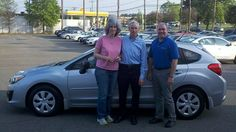 Folger Subaru Internet Sales Consultant Jim Gamble with Mr. & Mrs. Clark and their new 2012 Subaru Impreza 5-Door hatchback!