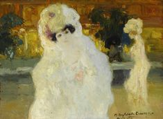 Hermen Anglada-Camarasa. Blanquita, 1902. Óleo sobre tabla, 25 x 34,5 cm. Colección Anglada-Camarasa Fundación 'la Caixa'. © David Bonet_2012