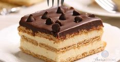 Desserts With Biscuits, Cold Desserts, Easy Desserts, French Desserts, Biscuits Graham, Cake Recipes, Dessert Recipes, Dessert Ideas, Cake Cafe