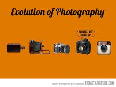 Evolution of photography…