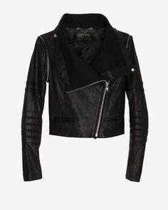 ShopStyle: Yigal AzrouelDetachable Sleeve Moto Leather Jacket