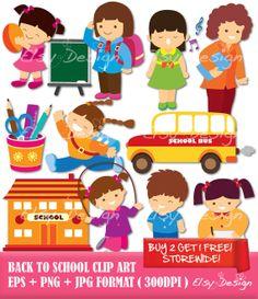 Back to School Digital Clip Art by ElsyDesign on Etsy, $5.00