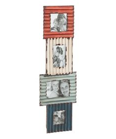 Another great find on #zulily! Corrugated Metal Four-Photo Frame #zulilyfinds