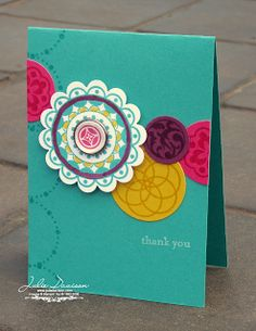 Julies Stamping Spot -- Stampin Up! Project Ideas Posted Daily: Last Chance Favorites: Circle Circus Thank You Card