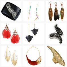 Jewellery pieces with feather detail. Get it here. http://www.topfloor.com/mydesigns4you/1758 #jewellery #jewelry #ring #bracelet #fashion #mydesigns4you #topfloor #style #trend #stylehaul #necklace #earrings #statement #gem