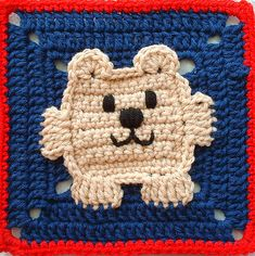 Crochet Square Bear - pattern
