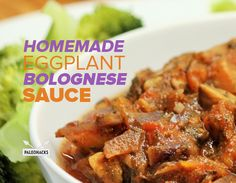 Homemade Eggplant Bolognese Sauce