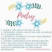 Why Include Poetry in the ASL Classroom | ASL Activities