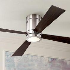 "52"" Casa Vieja Revue Brushed Nickel - LED Ceiling Fan - #4G530 | LampsPlus.com"