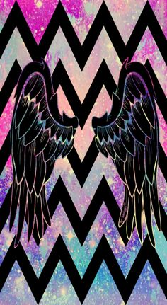 """Galaxy angel wings"" wallpaper I created!"