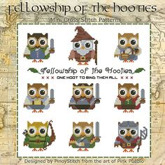 Hooties Fellowship Collection Cross Stitch PDF by PinoyStitch, $7.50