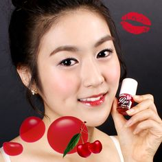 Lioele Blooming Pop Cherry Tint - L-p-21 - Lioele Lip Makeup - Lioele Point Makeup - Korean Cosmetics