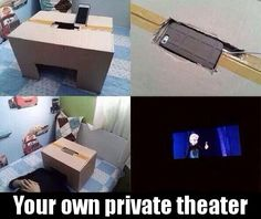 I'm so making one of these! - Your own private theatre (with an iPhone and a cardboard box)