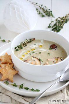 Bospaddenstoelensoep met truffelolie - Mind Your Feed