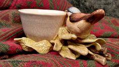 Vaso de Cerâmica Passarinho | Atelier da Yara | Elo7