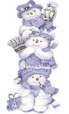 I used to collect any Snowman figurine that displayed snowmen because of my 3 boys. Christmas Clipart, Vintage Christmas Cards, Christmas Printables, Christmas Pictures, Christmas Snowman, Winter Christmas, Christmas Time, Christmas Crafts, Merry Christmas