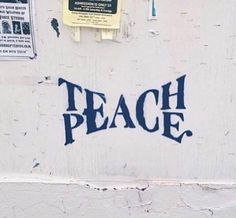 So much fighting in the world. Where will our children be safe? Teach. Peace.