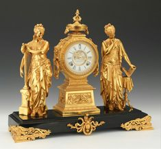 An Ansonia Music & Poetry Mantel Clock 1894