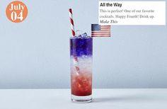 Happy Fourth! All the Way: www.teelieturner.com #cocktails