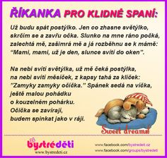 Říkanka pro klidné spaní Dreamworks, Kids And Parenting, Kids Learning, Montessori, Winnie The Pooh, Kindergarten, Writing, Education, Motivation