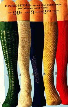 Knee High Ladies Fashion Socks-------all through high school with plaid, pleated skirts
