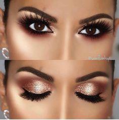 Dior Celebration collection - Makeup palette for the Eyes ~ eyeshadows, eyeliner, serum primer & Mascara - Cute Makeup Guide Makeup Eye Looks, Cute Makeup, Makeup For Brown Eyes, Smokey Eye Makeup, Gorgeous Makeup, Skin Makeup, Eyeshadow Makeup, Copper Eye Makeup, Brown Eyes Pop