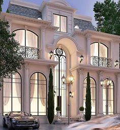 Luxury Homes – Luxury Dale Classic House Exterior, Classic House Design, Dream House Exterior, Dream Home Design, Modern House Design, Luxury Homes Exterior, House Outside Design, House Front Design, Villa Design