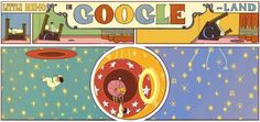 Google Doodle: 107th Anniversary 0f Winsor McCay's Little Nemo in Slumberland  Today on October 15th, 2012, Google celebrates 107th anniversary of Winsor McCay's Little Nemo in Slumberland by featuring an awesome animated Doodle on their homepage. This is not the first time that Google comes with an animated Doodle. Earlier they featured Robert 'Bob' Moog synthesizer on his 78th birthday.