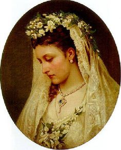 Another of Queen Victoria's daughters, Princess Louise, on her wedding day in 1871, when she married the Duke of Argyll.