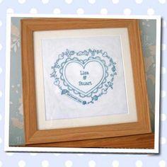 DIY wedding embroidery gift