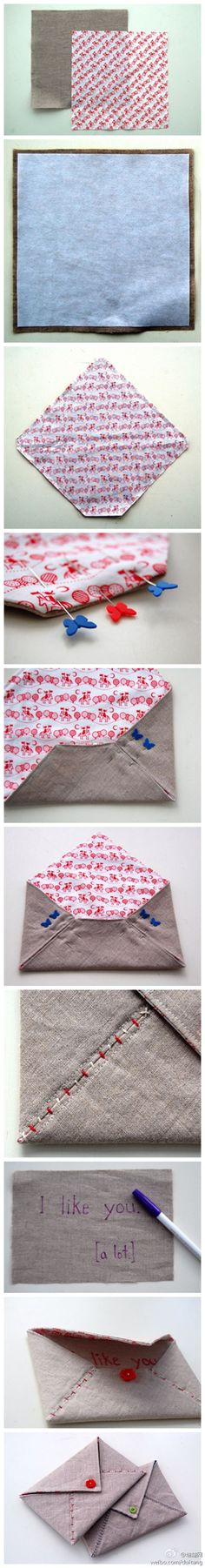 fabric envelope. I love this idea for the tooth fairy!