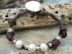 Sterling Silver & Freshwater Pearl Rustic Jewelry by vivsjools
