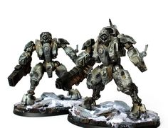 Hey all, a real quick post today with some Tau XV95 Ghostkeel Battlesuits.